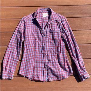 Quicksilver Boyfriend Flannel Shirt
